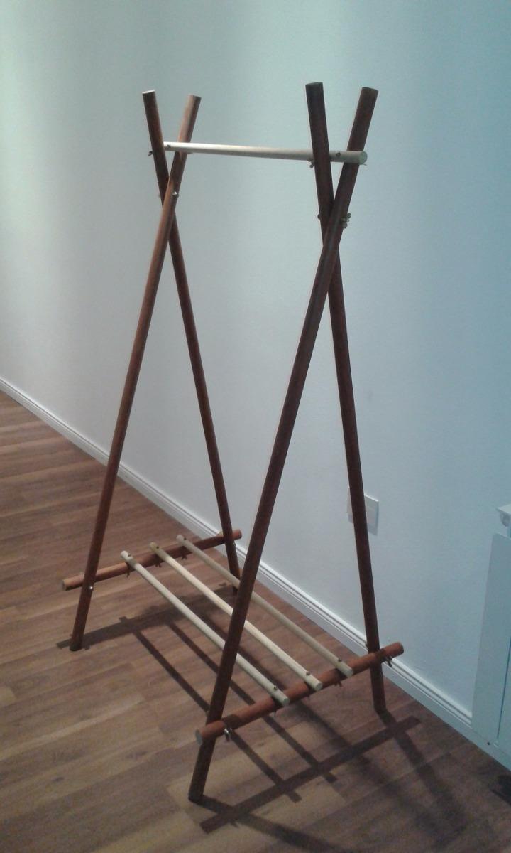perchero de pi de madera cargando zoom - Percheros De Madera