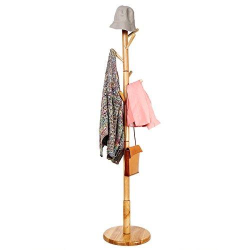 perchero de pie de rackwooden paraguas de ropa rack percha d