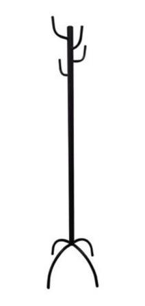 perchero de pie metálico negro de 140 cm para el hogar h.c