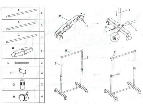 perchero de pie movil acero cromado ruedas facil armado - importado - excelente diseño - para uso domestico no comercial
