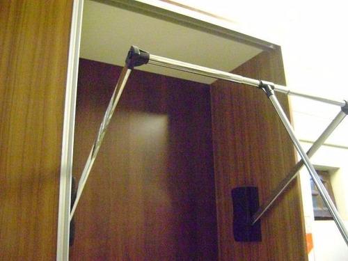 perchero elevador de ropa neumatico 60 a 83 cm ó 83 a 115 cm