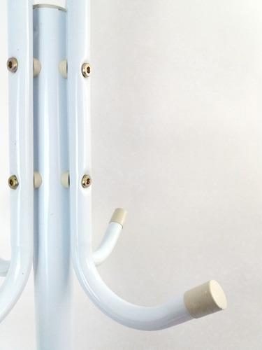 perchero en tubo metalico de piso de 12 servicios desarmable