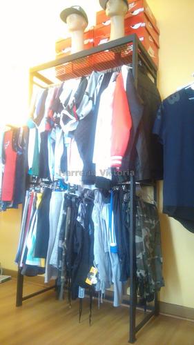 perchero exibirdor de ropa para local nuevo sin uso