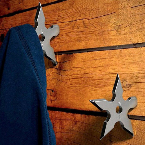perchero gancho para abrigos forma de estrella ninja h4008