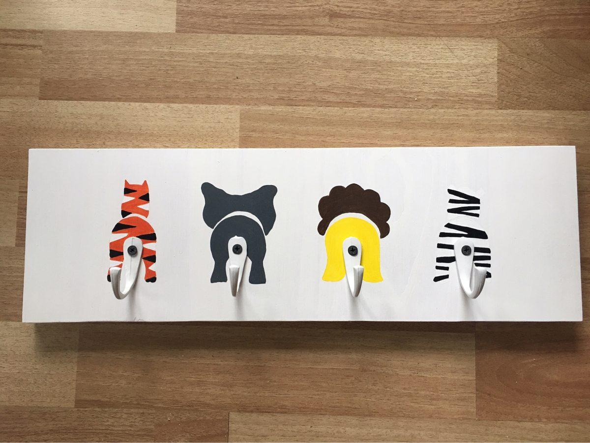 Perchero Infantil De Pared Animales Ninos Bebes Dibujos 45000 - Dibujos-pared-infantil