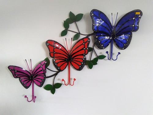 perchero mariposas