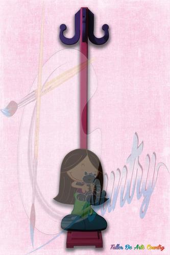 perchero piso fofucha 1,20 cm alto arte country
