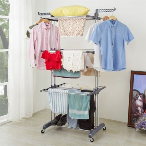 perchero portátil de 3 capas organizador de ropa colgador d