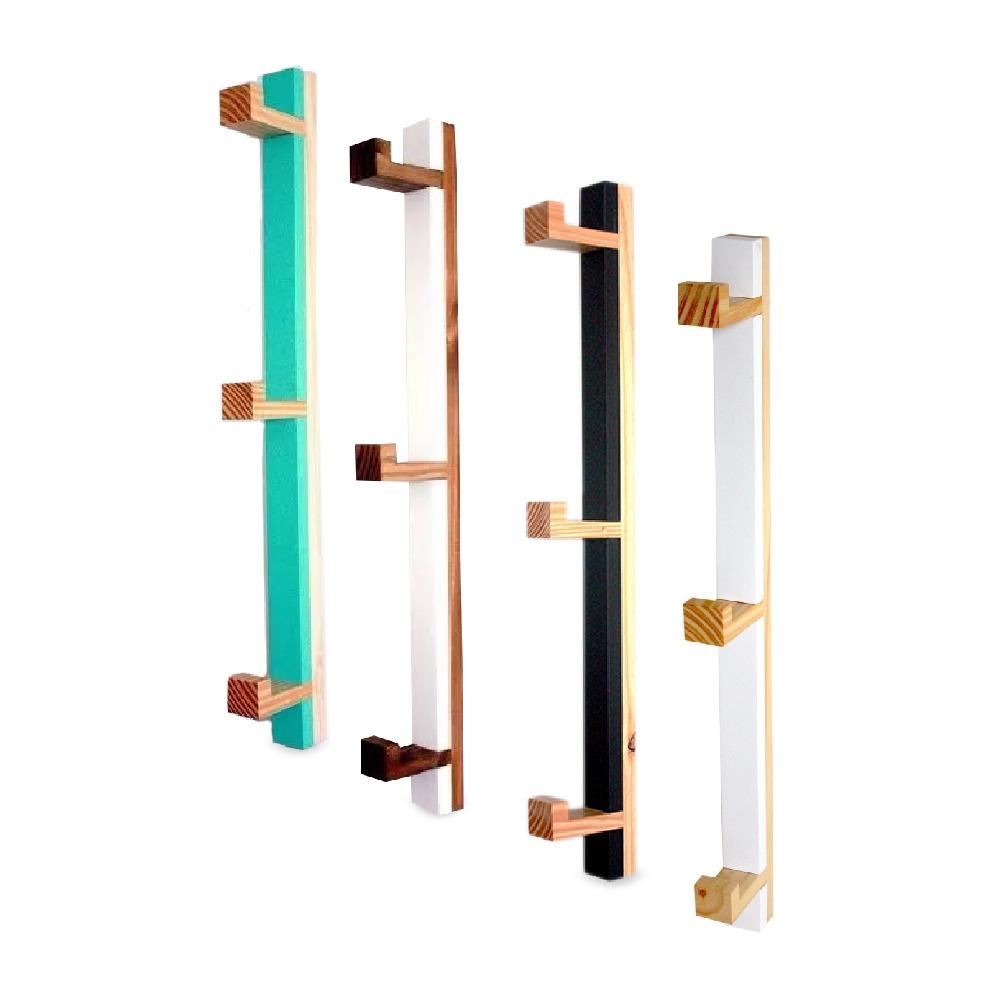 perchero vertical madera moderno para pared 3 ganchos 6ce - Percheros Modernos