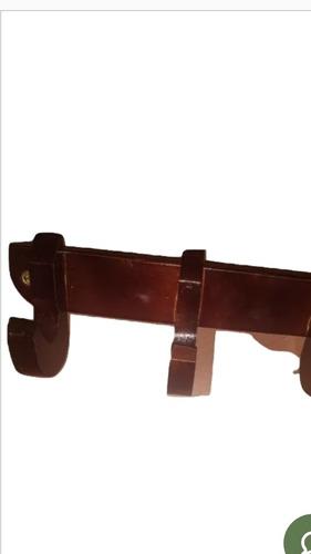percheros en madera elegantes  de 4 colgadores  resistente