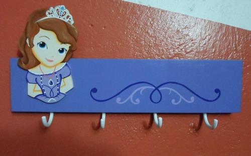 percheros en madera infantiles princesa sofia