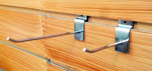 percheros panel ranurado, exclusivos ,mensulas , ganchos