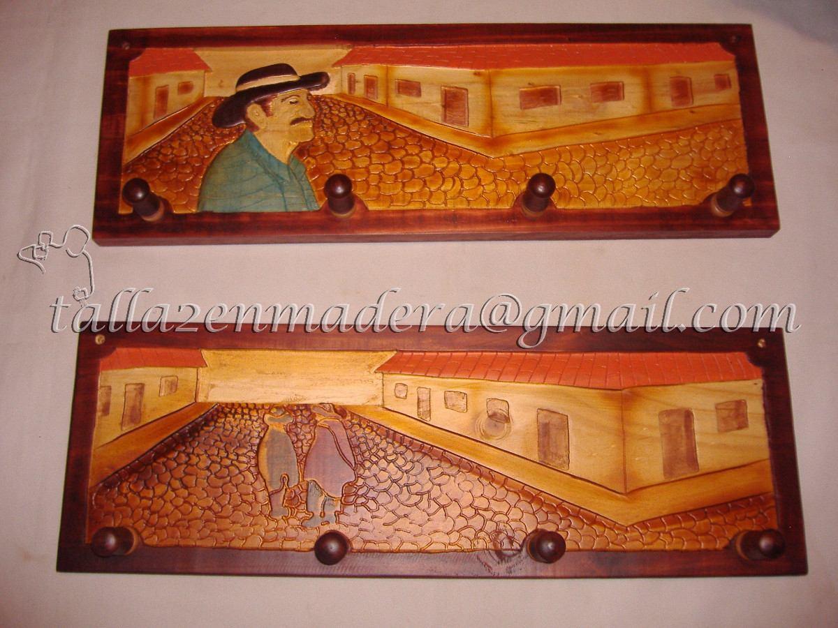 Percheros peque os tallados en madera en - Percheros en madera ...
