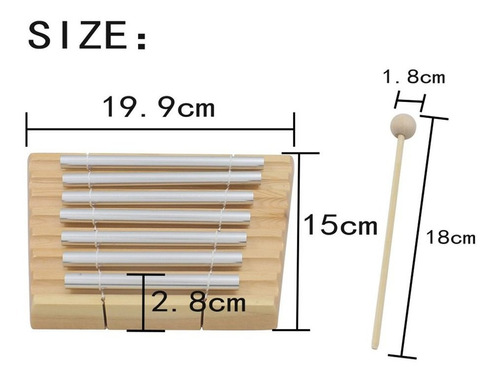 percusión bar chime percusión instru