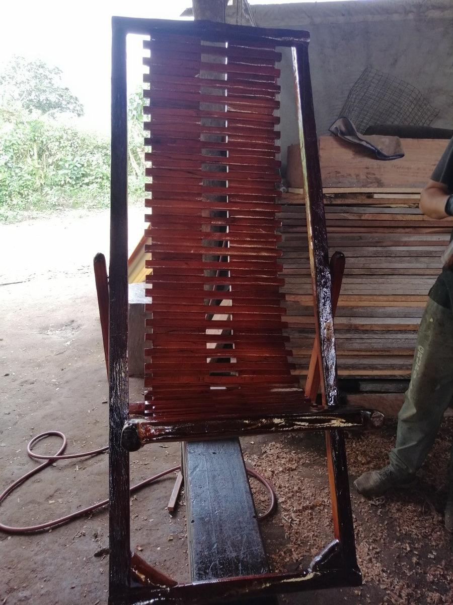 perezosa de madera  caoba
