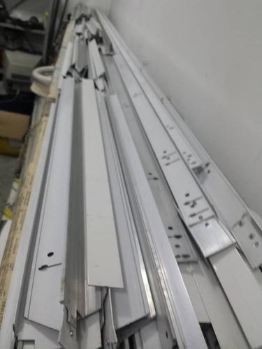 perfil aluminio cielo techo raso tee blanco-pieza  2,50m
