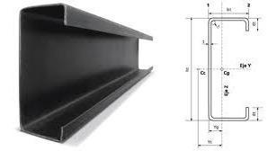 perfil c negro 100 x 50 x 15 x 2 mm x 6 mts