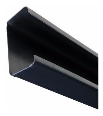 perfil c negro 80 x 40 x 15 x 1,6 mm x 1 mts
