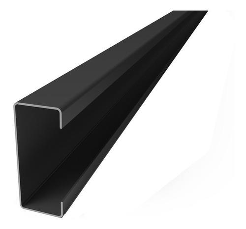 perfil c negro 80 x 40 x 15 x 1,6 mm x 12 mts  c u o t a s