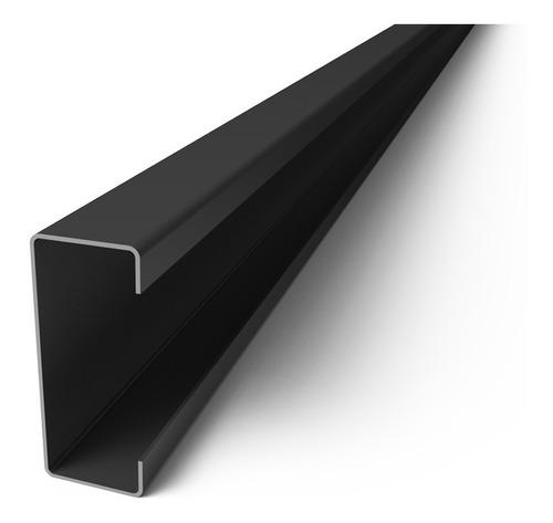 perfil c negro 80 x 40 x 15 x 1,6 mm x 6 mts