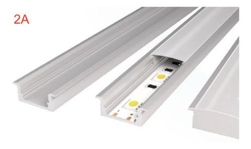 perfil canaleta para empotrar con mica cinta led decoracion
