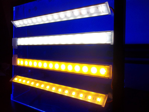 perfil con tira led 5050 blanca + fuente + dimmer touch!