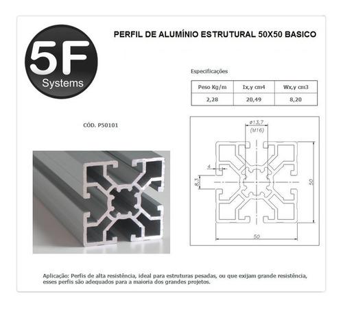 perfil de alumínio estrutural 50x50 básico