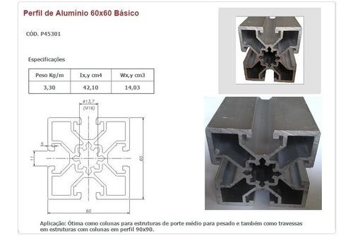 perfil de alumínio estrutural 60x60 básico