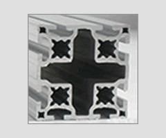perfil de aluminio estrutural 80x80 reforçado
