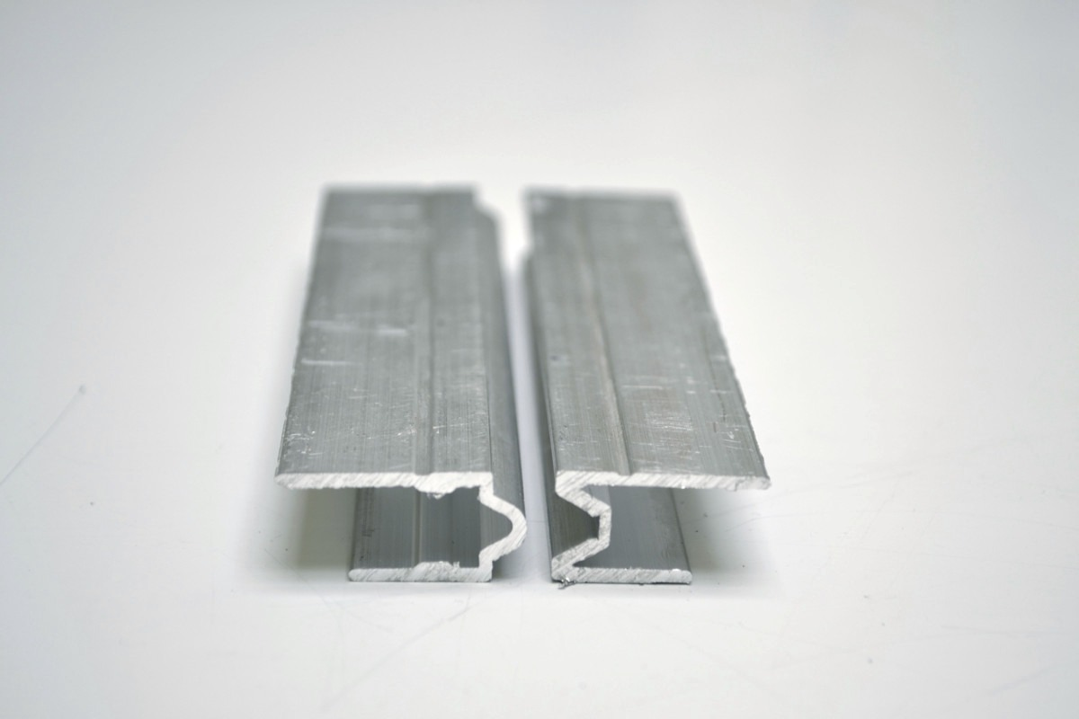 Perfil de aluminio hembra macho para fabricar estuches for Materiales para toldos de aluminio