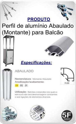 perfil de alumínio para balcão (montante)