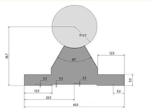 perfil de alumínio para montar guias lineares de 20mm.