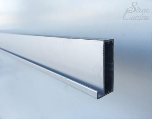 perfil de aluminio para puerta de vidrio mate de 7mm