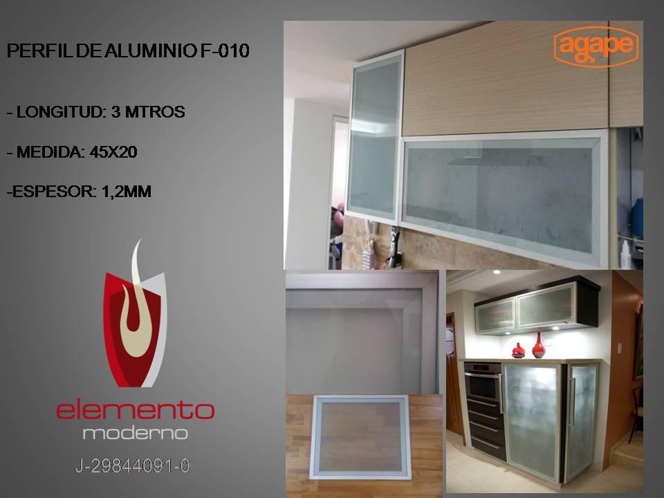 Perfil de aluminio para puertas y muebles modelo f 010 - Perfiles de aluminio para muebles ...