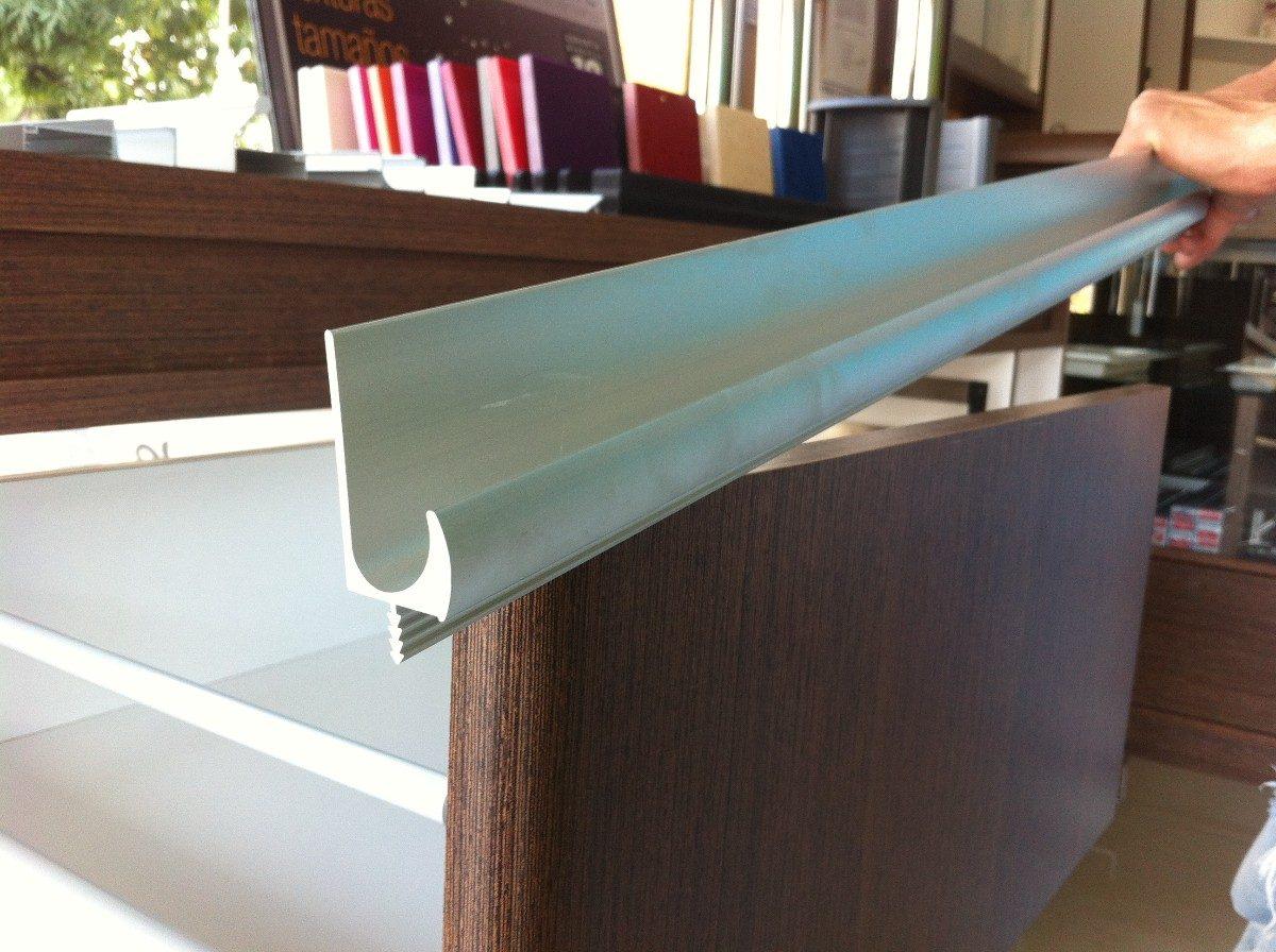 Perfil de aluminio tirador en u de embutir herraje de - Perfil de aluminio en u ...