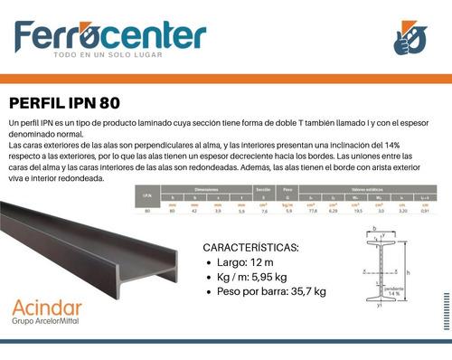 perfil de hierro doble t del 8 - ipn 80 x 12 mts - oferta!