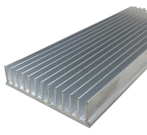 perfil dissipador de calor aluminio 10,4cm largura c/ 30cm