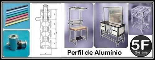 perfil estrutural em alumínio 30x100 básico