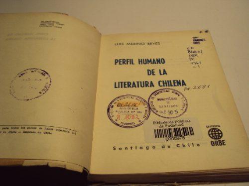perfil humano de la literatura chilena, l. merino