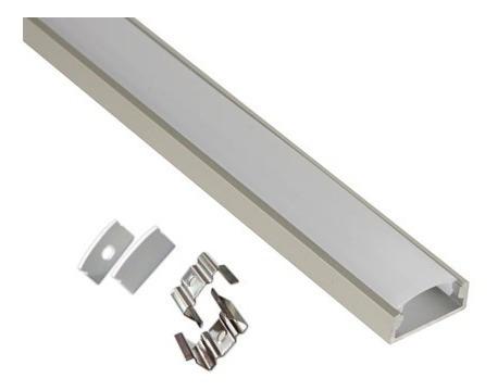 perfil led de sobreponer 1m , lamparas cinta led iluminación
