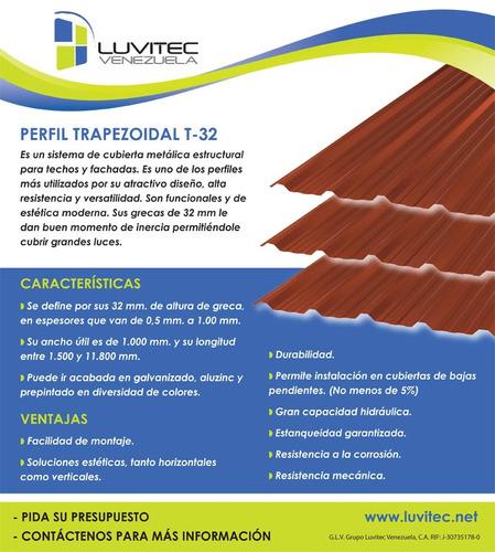 perfil luvitec trapezoidal t-32