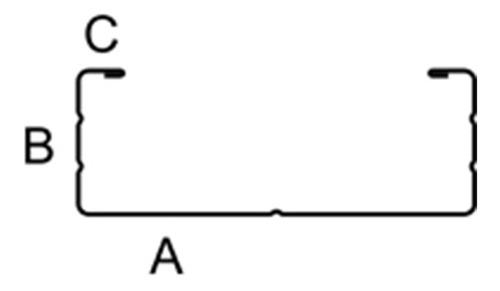 perfil maestra para sistema f47 cielorraso knauf