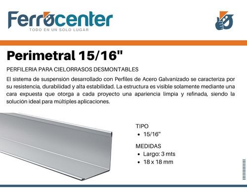 perfil perimetral 15/16'' - 3,00 mts cielorraso desmontable