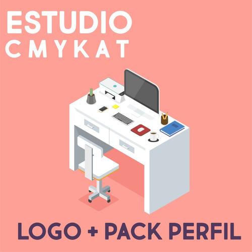perfil + redes + logo