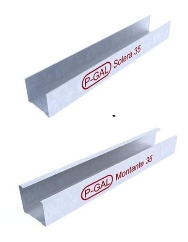 perfil solera / montante 35 mm placa durlock