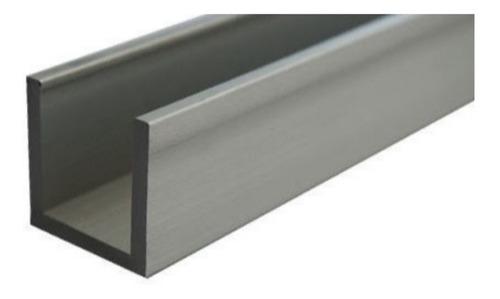 perfil tipo u 1/2 pulgada de aluminio (6,10m)