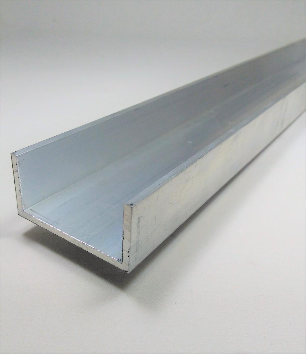 Perfil u aluminio 1x2x1x1 8 2 54cmx5 08cmx2 54cmx3 17mm for Perfiles de aluminio para toldos de palilleria