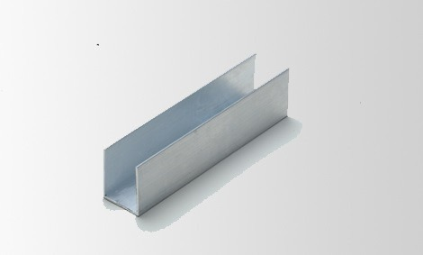 Perfil u aluminio desigual 25mm x 20mm x 25mm c 1mt r - Perfil aluminio u ...