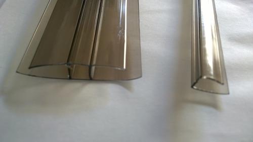perfil u de policarbonato tono bronce x 2.10m 300 pesos