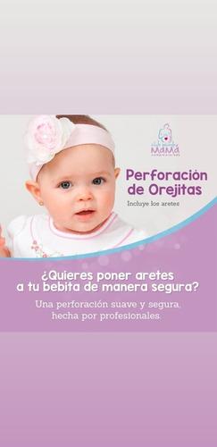 perforación de orejitas para bebes